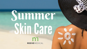 women in sun with sunscreen